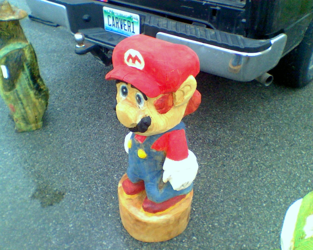 Mercury view topic yoshi and mario chainsaw carvings